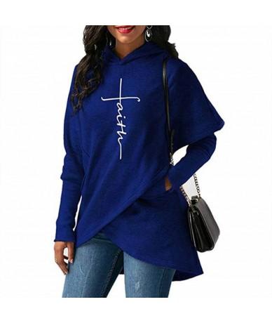 Hot Women Lady Hoodie Top Sweatshirt Long Sleeve Warm Embroidery For Autumn Winter MSK66 - Blue - 4T4154059172-2