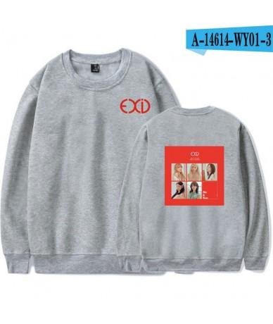 EXID Sweatshirts Famous Kpop Pullover Loose Capless Hoodies Fashion Print High Quality Hip Hop Sweatshirts EXID - gray - 484...