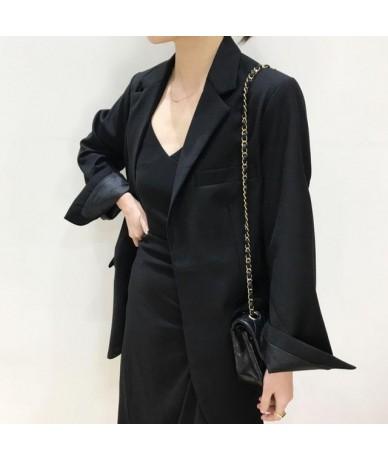 Women Blazer Long Sleeve Lace Up Womens Blazer Coat Temperament Black Blazer Women Suit Coat Long Ladies Tops Autumn - black...
