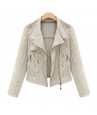 Lace Biker Jacket 2019 Autumn New Brand High Quality Full Lace Outwear Leisure Casual Short Jacket Metal Zipper Jacket FREE ...