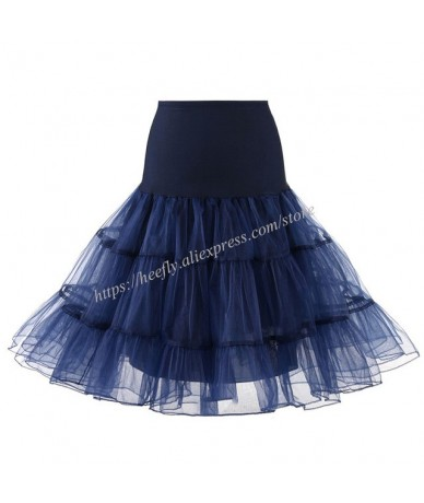 Tulle Skirts Womens Fashion High Waist Pleated Tutu Skirt Retro Vintage Petticoat Crinoline Underskirt Faldas Women Skirt sa...