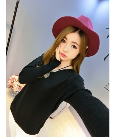 2018 Autumn sweater women pullovers v-neck batwing long sleeve casual loose cashmere sweater female knitted sweater basic to...