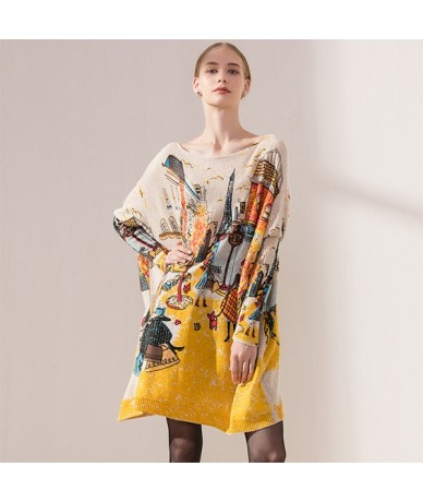 Plus Size Casual Women Sweater Coat Batwing Sleeve Fashion 2018 Loose Pullovers - Apricot - 4E3033543490-3