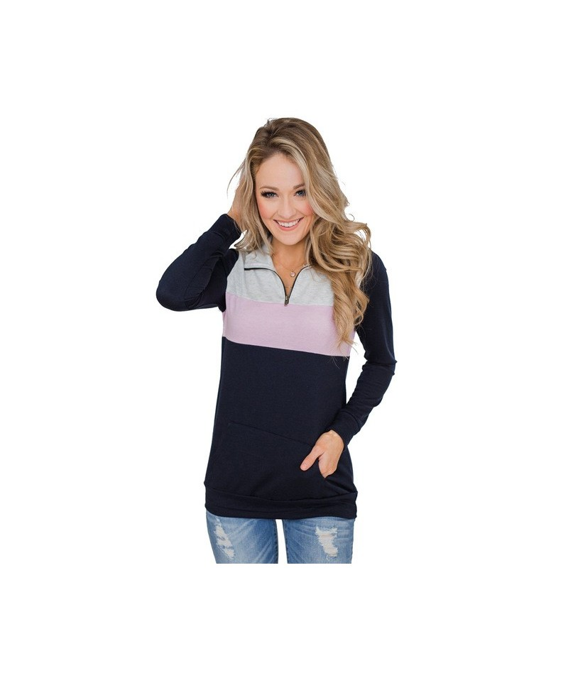 On the Go Quarter Zip Pullover Dropship Sweatshirts for Women Are Fashion Essentials for Chilly Days - Pink - 5H111104464220-2