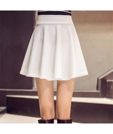 M-5XL Plus Size Shorts Skirts Women's Solid Mini Pleated Skirt Fashion High Waist Casual Wear Korean Short Skater Skirt - D1...