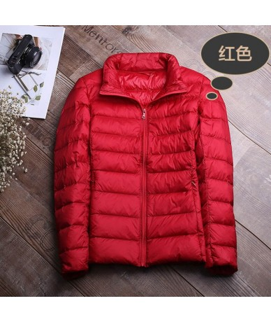 Winter Jacket Women Coat 2018 Warm Ultra Light 90% White Duck Down Jacket Slim Women Autumn Jacket Windproof Down Short Coat...
