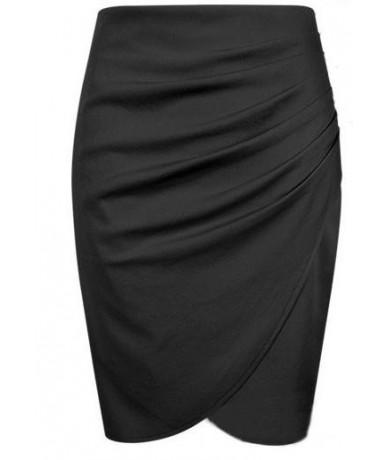 Size XS-3XL New 2016 Women Summer Formal Office Casual Slim Stretch Bodycon Knee Length High Waist Pencil Skirt - Black - 4E...