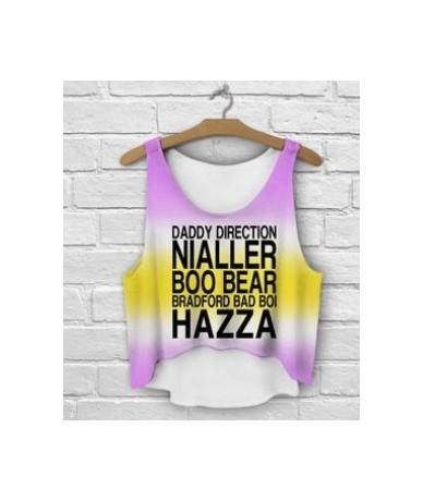 Multicolor Style T-Shirts 3D Women Tank Tops&Camis Printed Sleeveless Vest Girls Summer Short Crop Tops Irregular - 5 - 4N34...