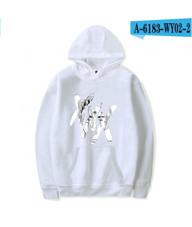 White Hoodies XXXTentacion Hoody Women Pop Hoodies Long-sleeve Casual Print Design Rapper Singer Pullovers oversized Sweatsh...