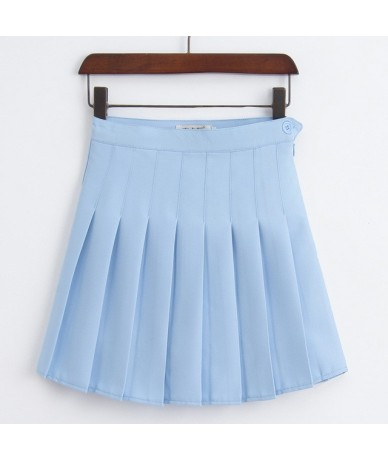Women Fashion Summer high waist pleated skirt Wind Cosplay skirt kawaii Female Mini Skirts Short Under it E1119 - Sky Blue ...