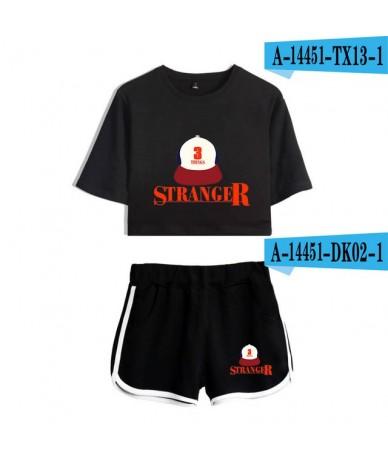 Stranger Things K-pop hip hop 2019 New 2D print Leisure Women Two Piece Set Shorts+lovely T-shirts Hot Sale Clothes - pictur...