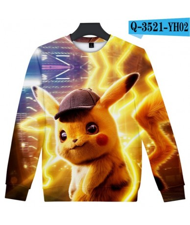 Pokemon Detective Pikachu 3D Print Popular Cool Basic Casual Popular cool hip hop Fashion Street O neck Women/men Sweatshirt...