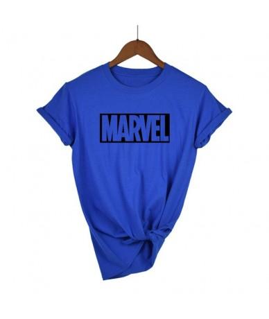 New Fashion Marvel Short Sleeve T-shirt women Superhero print t shirt O-neck comic Marvel shirts tops women clothes Tee - bl...
