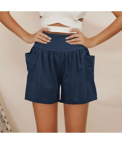 Plus Size Shorts Women XXXL 4XL 5XL Loose Wide Legs Elastic High Waist Shorts Pocketed Plus Size Casual Short Pants Trousers...