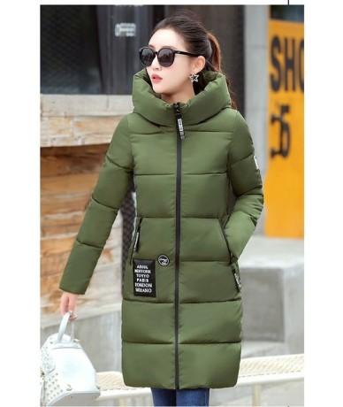 Women Winter Jacket Coat 2019 New Casual Warm Long Sleeve Ladies Basic Coat Feminina Jacket Women Parkas Down Cotton Jacket ...