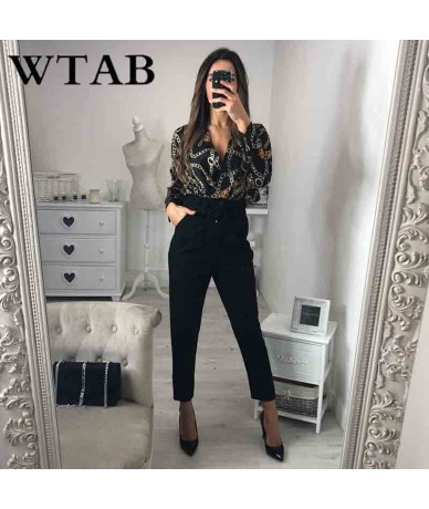 NEW 2019 casual spring summer bodysuit full fashion print v-neck women jumpsuit skinny backless rompers mujer playsuit - Red...