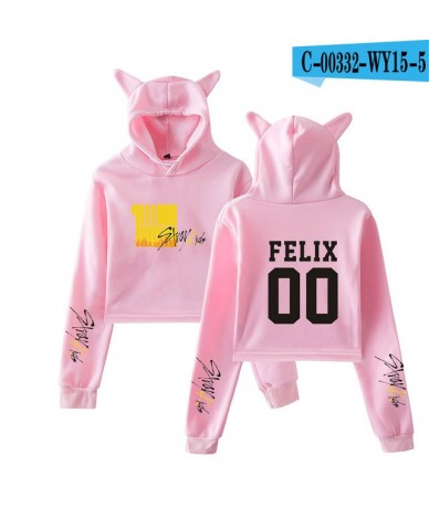 Kpop Stray Kids Yellow Wood Cat Ear Hoodies Sweatshirt Cool Casual 2019 NEW Album fashion trend Women Hoodies Sweatshirt Sex...