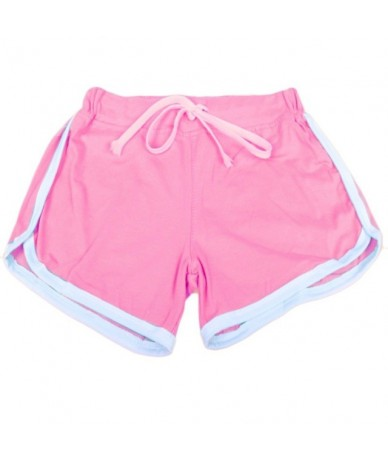 Hot Sale Shorts For Women Drawstring Elastic Waist Contrast Binding Side Split Shorts Cotton Work Waistband Fit New Shorts 2...