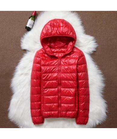 Winter Warm Down Cotton Coat Women Ultra Light White Duck Down Jacket Plus size 4XL Female Thin Hooded Outwear Autumn Jacket...