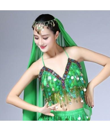 Rainbow Sequin Tassel Mermaid Mirror Festival Body Harness Bra Bralette Crop Top Beading Coins Lace-Up Chiffon Boho Cami Top...