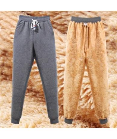 Plus Size 4XL Thick Velet Women Trousers 2018 Street Wear Fashion Autumn Winter Warm Harem Pants Casual Elastic Loose Sweatp...