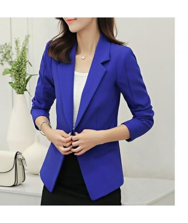 Women blazer 2019 Long Sleeve red Blaser Women Suit jacket Female white Blazer Femme 7 colour pink Blazer - Blue - 404114527...