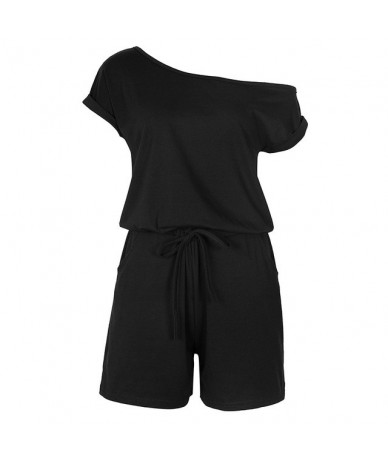 Short Sleeve Solid Pockets Summer Playsuits Women Rompers Short Overalls Feminino Jumpsuit Macacao Casual Women's Clothing G...