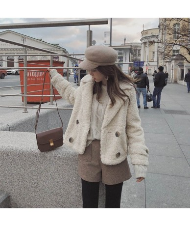 Mishow 2018 Autumn Winter New Coat Women Long Sleeve cotton clothing Casual Overcoat MX18D6513 - Khaki - 4O3072516997