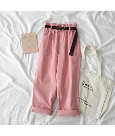 Spring Summer High Waist Cargo Pants Pantalon Femme Streetwear Solid Loose Cotton Trouser Korean Women Jogges Sweatpants - p...