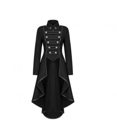 Medieval Irregular Hemline Long Sleeve High Waist Women Slim Fit Tuxedo Blazer - Black - 5J111115091816-2