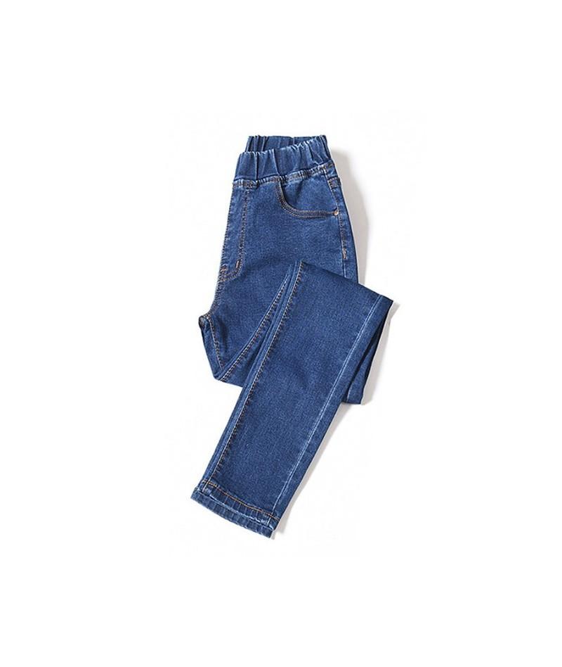 Womens Jeans Plus Size Elastic Waist Stretchy Pants Denim Trousers Bagger Autumn Winter Blue black Big Size 5xl 6xl - Deep B...