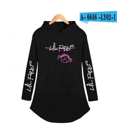 drop shopping rapper lil peep 2019 new hooded dress hip hop casual Harajuku women hoodies Plus Size clothes pullover - black...
