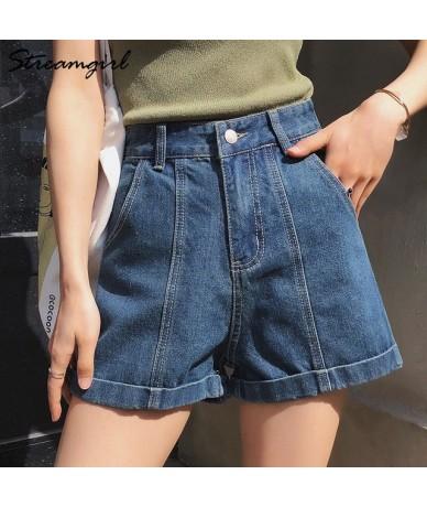 Black Denim Shorts Women's Summer High Waist Cotton Khaki Women Jeans Short Classic Wide Leg Shorts Denim Short White Jeans ...