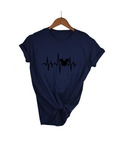 T Shirt Plus Size Mickey TShirt Women Shirts Summer Tops Graphic Tees Women Mickey Mouse Heartbeat Kawaii T-shirt XS-XXL - N...