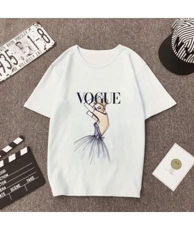 Summer VOGUE T Shirt Womens Harajuku Printed Graphic Women Tee Shirt Vintage Punk Casual Fashion Round Neck Short Sleeve Ulz...