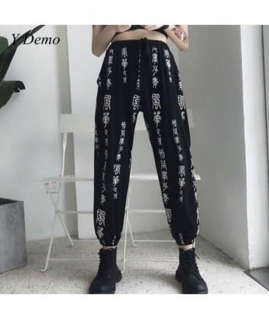 Harajuku Streetwear Chinese Vintage Casual Women Cargo Pants Cool Waist Ankle Length Pants - 4S3090343516