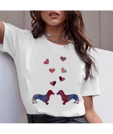 Dachshund Pug Teckel Funny T Shirt Women Harajuku Cute French Bulldog Frances German Shepherd T-shirt Pit Bull Tshirt Top Fe...