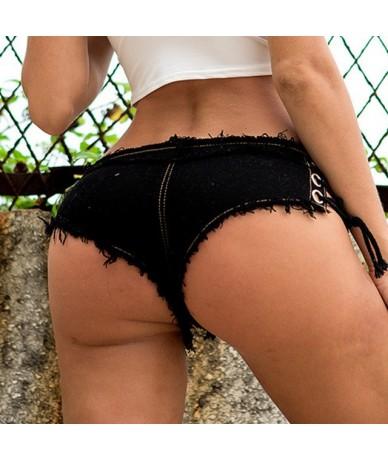 Summer Ladies Sexy Hot High Waist Black Mini Booty Denim Shorts Jeans Femme Pole Dance Women - Black - 4Z3068181560-1