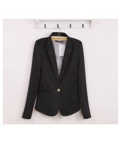 2018 Blazer Women Suit Blazer Foldable Brand Jacket Made Of Cotton &Spandex With Lining Vogue Refresh Blazers - Black - 4539...
