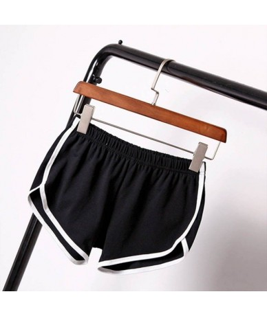 Women Summer Style Comfortable Solid Color Casual Elastic Workout Waistband Casual Loose Shorts - B - 4J3890649450-1