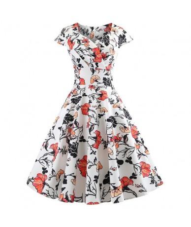 New Summer Dress Women Cap Sleeve Floral Print Hepburn 50s 60s Vintage Dress Tunic Elegant Slim Party Dresses Sexy Sundress ...