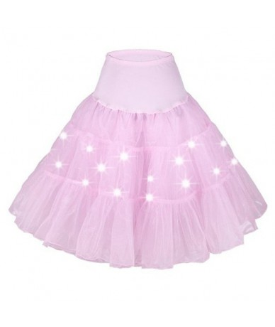 Girls Halloween Long Tutu LED Skirts Party Ballet solid Layered Dancing Light skirts halloween costumes for women Christmas ...
