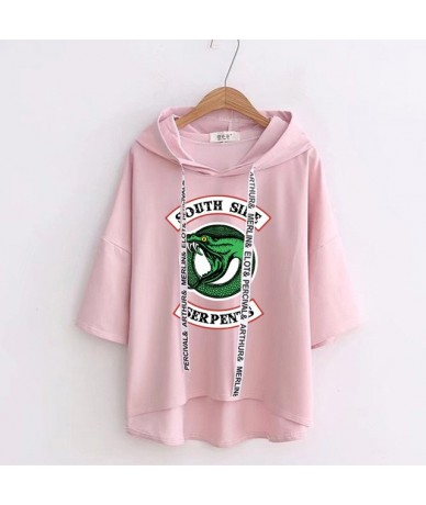 New Riverdale T-shirt South Side Serpents Tshirt Women Hooded Casual Collar Tops Tees Short Sleeve Harajuku Kawaii T-Shirt -...