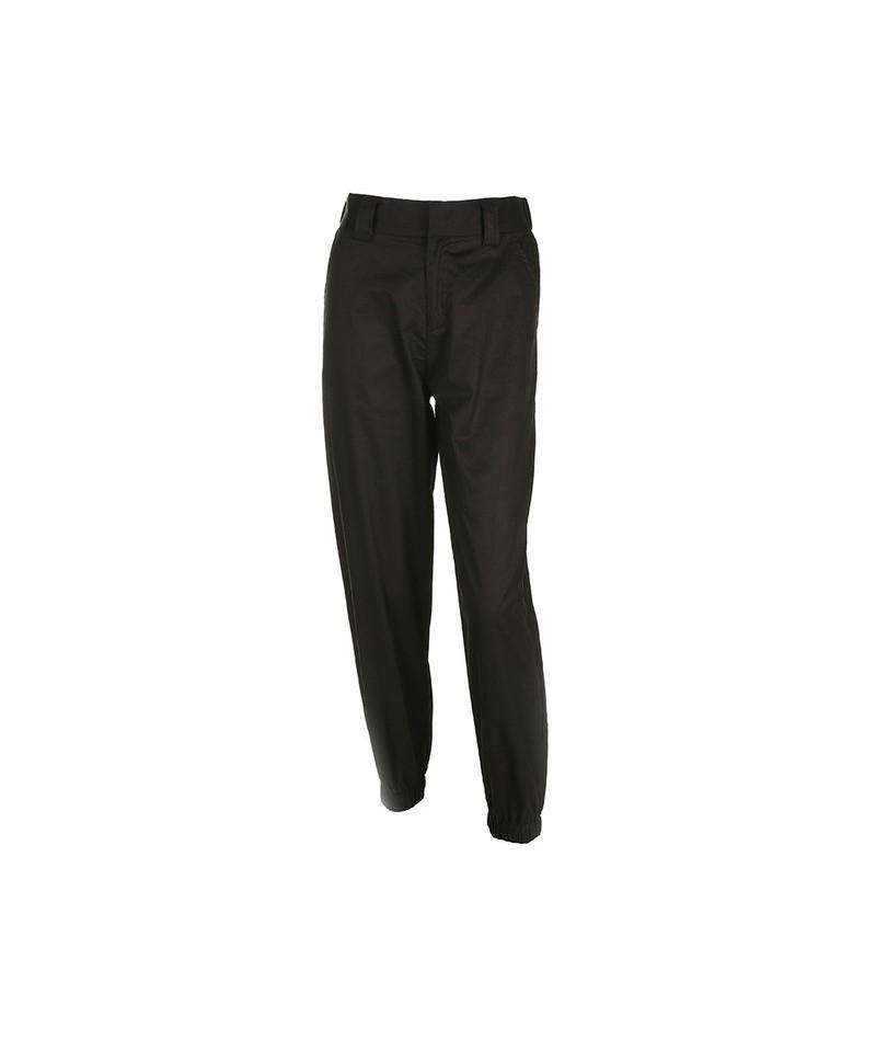 Weekeeep High Street Pencil Pants Women High Waist Elastic Waist Pants 2019 Spring Autumn Long Casual Pants - Black - 4R3078...