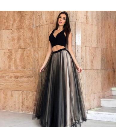 Elegant High Waist Long Party Formal Skirts Women Faldas Trendy Floor Length Skirt Plus Size Zipper Style Ladies Jupe Skirts...