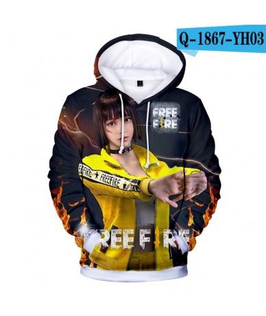 3D Free Fire Hoodies Sweatshirt Casual Hip Hop Capless Outweaar Long Sleeve Sweatshirt Winter Kpop Clothes - Q1867 - 4J30486...