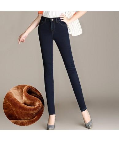 Autumn Winter Jeans Women Plus Velvet Thicken Stretch Jeans Woman Slim Ladies Warm Black Jeans Long Pants Trousers Women C50...