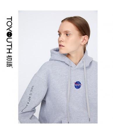 Women Long Sleeve Top Harajuku Sweatshirt Loose Hoodies Sweatshirts Winter Pullover Sweatshirts Casual Letter Tops - Gray - ...