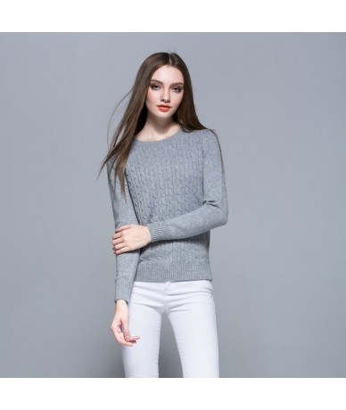 High Quality Cashmere Sweater Winter Womens Pullover Solid Knitted Sweater Top for Women Autumn Woman Oversized Sweater - Gr...