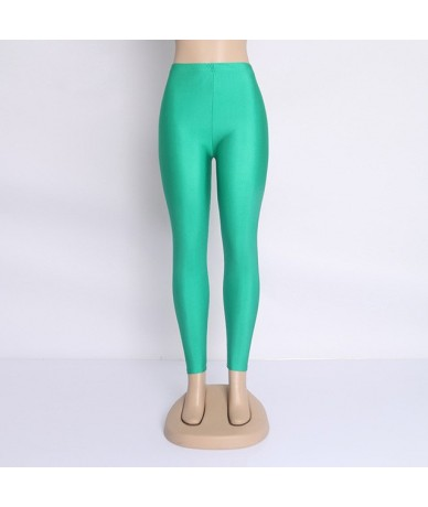 Fluorescent Color High Elastic Women Leggings Pant Multicolor Shiny Glossy Legging Trousers 20Color Casual Clothing For Wome...